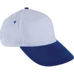 0101-SM Beyaz Şapka - Saks Mavi Siperli