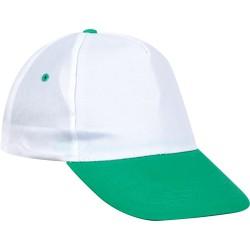 0101-BY Beyaz Şapka - Yeşil Siperli
