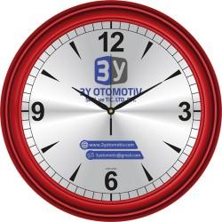 V30-623-K Metal Kadranlı Plastik Duvar Saati