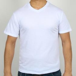5200-13L-01 Bisiklet Yaka Beyaz Tişört