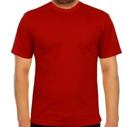 5200-13L-11 Bisiklet Yaka Kırmızı Tişört