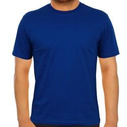 5200-13L-23 Bisiklet Yaka Saks Mavi Tişört