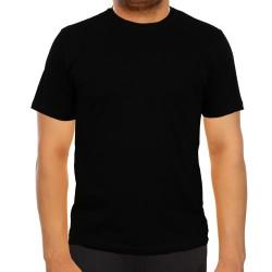 5200-13L-02 Bisiklet Yaka Siyah Tişört